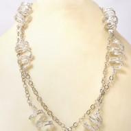 Collana in argento con spirali in filigrana bianca