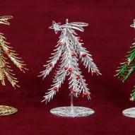 Soprammobile ad albero di Natale in filigrana d'argento