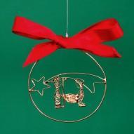 Presepe per Albero di Natale in Filigrana Dorata